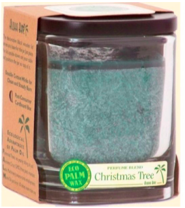 Image of Candle Aloha Jar Christmas Tree Green
