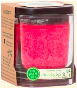 Image of Candle Aloha Jar Holiday Spirit Red