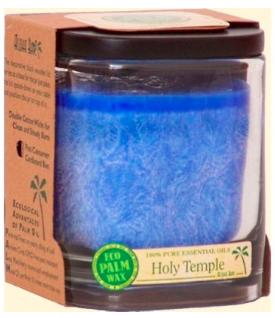 Image of Candle Aloha Jar Holy Temple Royal Blue