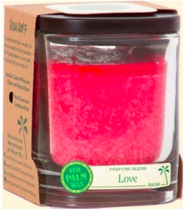 Image of Candle Aloha Jar Love Red