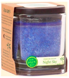 Image of Candle Aloha Jar Night Sky Navy Blue