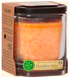 Image of Candle Aloha Jar Pumpkin Spice Orange