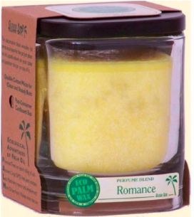Image of Candle Aloha Jar Romance Yellow