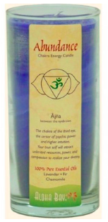 Image of Candle Chakra Energy Jar Abundance Indigo