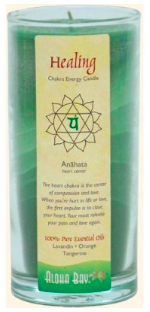 Image of Candle Chakra Energy Jar Healing Green