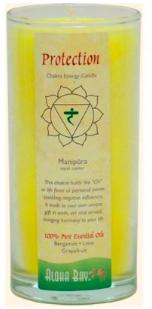 Image of Candle Chakra Energy Jar Protection (Manipura) Yellow