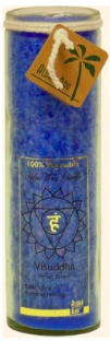 Image of Candle Chakra Jar Unscented Positive Energy (Visuddha) Blue