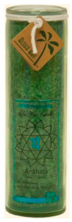 Image of Candle Chakra Jar Unscented Healing (Anahata) Green