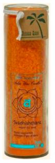 Image of Candle Chakra Jar Unscented Love (Svadhishthana) Orange
