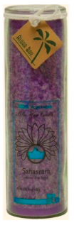 Image of Candle Chakra Jar Unscented Happiness (Sahasrar) Violet