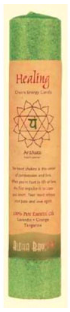 Image of Candle Chakra Pillar Healing Green