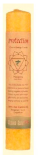 Image of Candle Chakra Pillar Protection Yellow