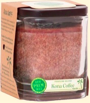 Image of Candle Cube Jar Kona Coffee Brown