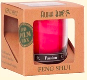 Image of Candle Feng Shui in Gift Box Fire (Passion) Red