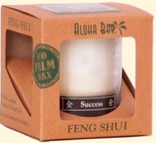 Image of Candle Feng Shui in Gift Box Metal (Success) Ivory