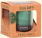 Image of Candle Feng Shui in Gift Box Wood (Creativity) Green