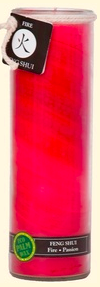 Image of Candle Feng Shui Jar Fire (Passion) Red
