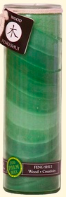 Image of Candle Feng Shui Jar Wood Green