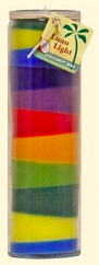 Image of Candle Rainbow Luau Light Coconut