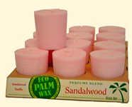 Image of Candle Votive Sandalwood Soft Pink