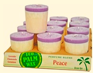 Image of Candle Votive Perfume Blend Peace Lavender-Invory