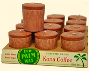 Image of Candle Votive Perfume Blend Kona Coffee Brown