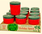 Image of Candle Votive Perfume Blend Holiday Spirit Red-Green