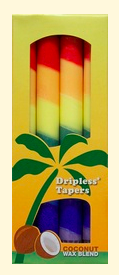 Image of Candle Taper 9 inch Unscented Rainbow