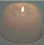 Image of Himalayan Salt Tea Light Holder White Mini 2.25 inch