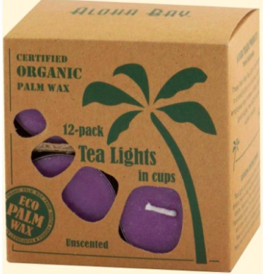 Image of Candle Tea Light Unscented Violet