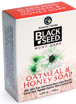 Image of Black Seed Body Care Soap Bar Oatmeal & Honey