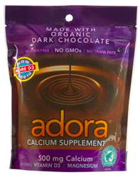 Image of Adora Calcium Supplement 500 mg Dark Chocolate