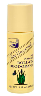 Image of Aloe Unscented All Natural Roll-On Deodorant
