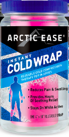 Image of Arctic Ease Instant Cold Wrap Adult Pink