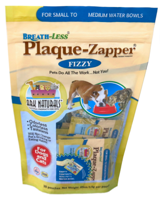 Image of BREATH-LESS Fizzy Plaque Zapper for Dogs & Cats Small to Medium