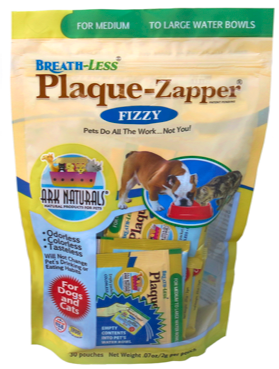 Image of BREATH-LESS Fizzy Plaque Zapper for Dogs & Cats Medium to Large