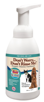 Image of Don't Worry Don't Rinse Me Foam Shampoo for Dogs & Cats