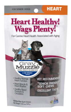 Image of Gray Muzzle Heart Healthy! Wags Plenty! for Senior Dogs & Cats
