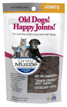 Image of Gray Muzzle Old Dog! Happy Joints! for Senior Dogs