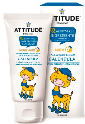 Image of Baby Face & Body Cream Calendula Night Soothing Chamomile
