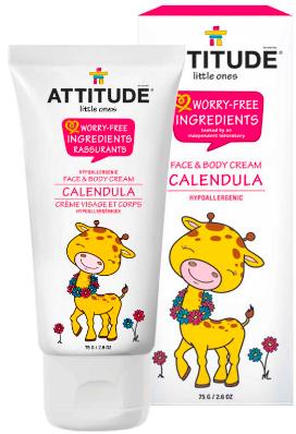 Image of Baby Face & Body Cream Calendula Fragrance Free