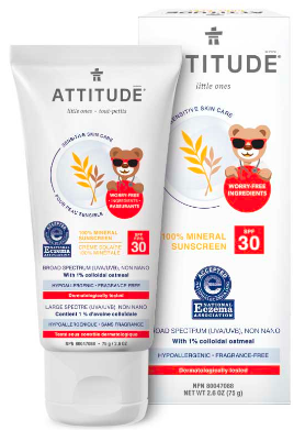 Image of Baby Sensitive Skin Sun Care 100% Mineral Sunscreen SPF 30