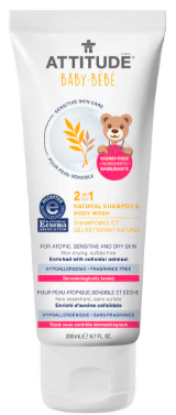 Image of Baby Sensitive Skin 2 in 1 Shampoo & Body Wash