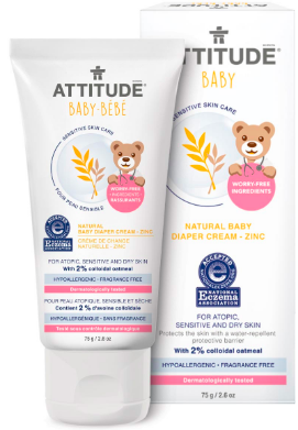 Image of Baby Sensitive Skin Diaper Cream Zinc