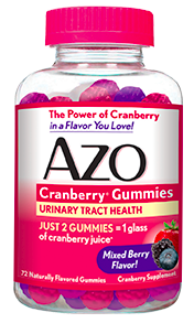 Image of AZO Cranberry Gummies Mixed Berry