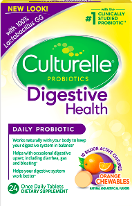Image of Culturelle Probiotics Digestive Health Chewable Orange