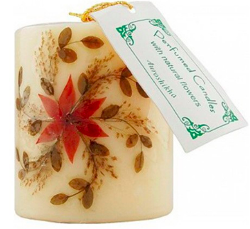Image of Flower Candle Jasmine Pillar