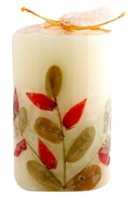 Image of Flower Candle Lavender Cylindrical