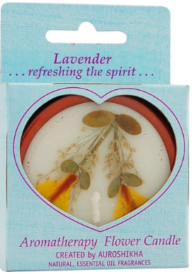 Image of Flower Candle Lavender Round Medium