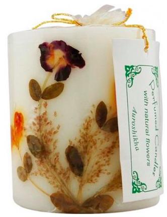 Image of Flower Candle Lavender Pillar